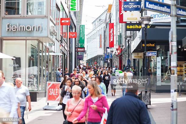 Shopping street and people in Essen