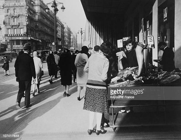 Shopping Street At Marseille In France During Thirties