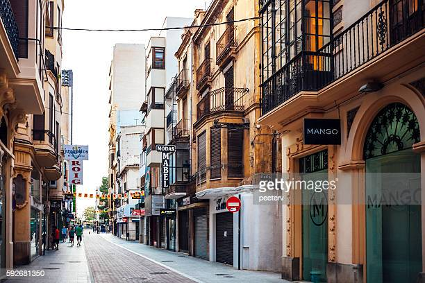 shopping street. castellon de la plana, spain. - castellon de la plana stock pictures, royalty-free photos & images