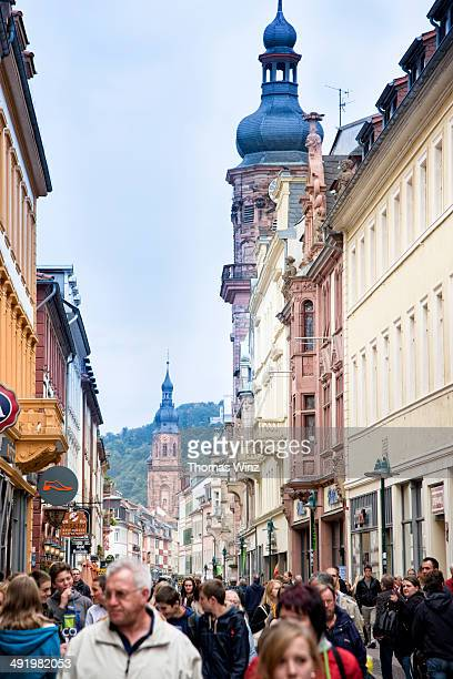 Shopping street in Heidelberg