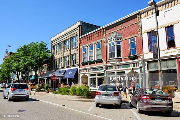 Shopping street in  Holland, Michigan