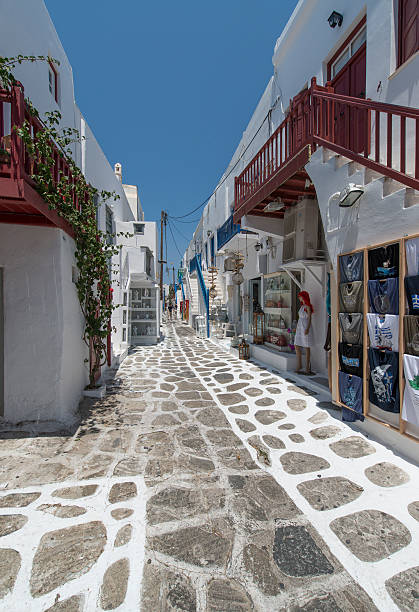 Shopping Street in Mykonos