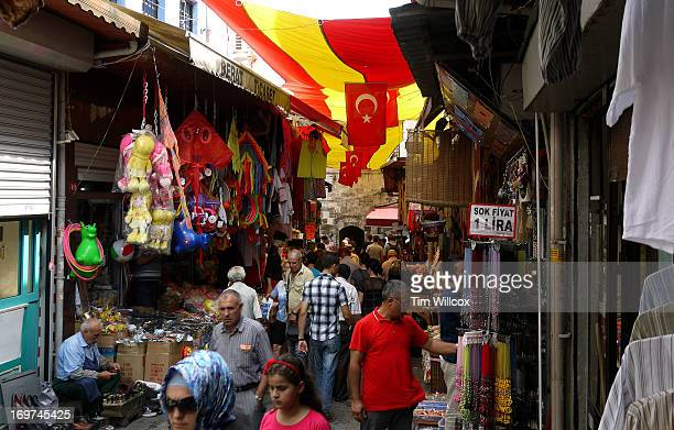 CONTENT] A shopping street Istanbul Turkey