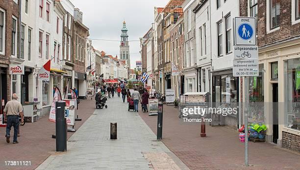 Shopping street -Nieuwe Burg- on June 28, 2013 in Middelburg, Netherland.