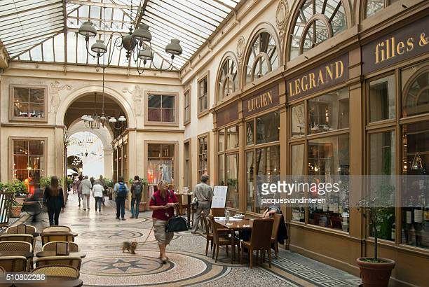 Shopping street under a glass roof