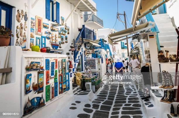 ミコノス島のショッピング街