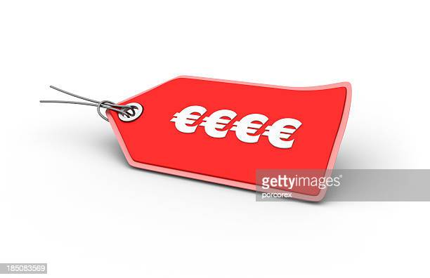 EURO-Zeichen Shopping-Tag
