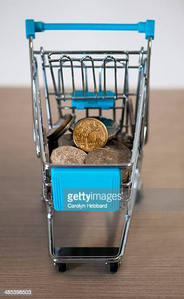 Shopping Trolley with Australian Currency