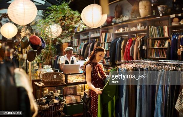 shopping vintage - clothing stock pictures, royalty-free photos & images