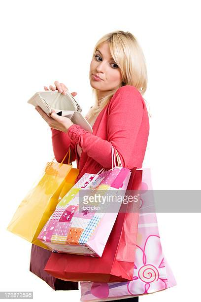 Shopping Woman with empty wallet