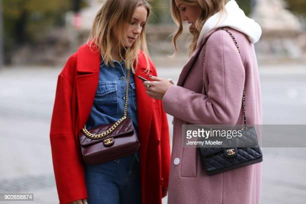 Shoppisticated vl Maike Schmitz Kira Tolk wearing a Chanel bag on November 07 2017 in Munich