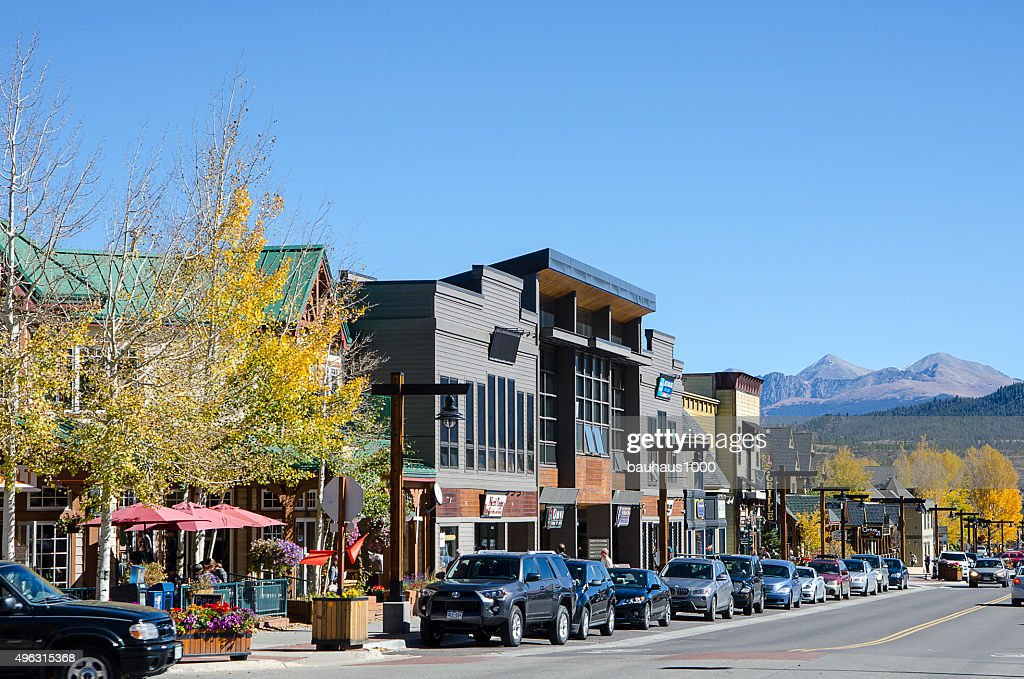 S And Restaurants Of Frisco Colorado Stock Photo