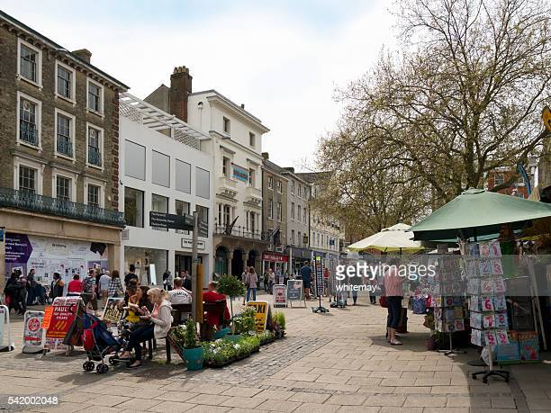 Shops and stalls in Norwich Market