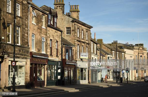 Shops are pictured in Barnard Castle less than 30 miles southwest of Durham north east England on May 25 a popular tourist village that Number 10...