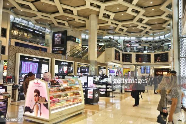 Shops at Abu Dhabi International Airport in Abu Dhabi, United Arab Emirates on February 16, 2020.