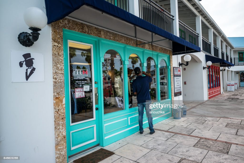 Shops at Saltmills Plaza, Providenciales. Turks and Caicos : Stock Photo