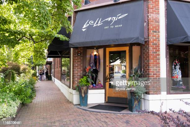 shops in biltmore village, asheville, nc - asheville stock pictures, royalty-free photos & images