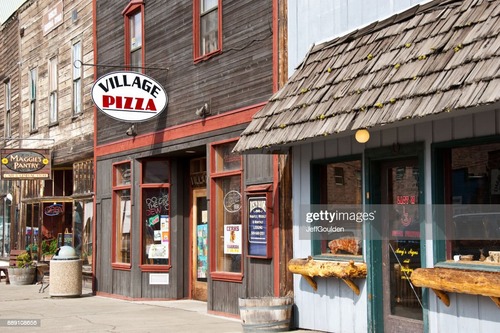 Shops in Downtown Roslyn : Stock Photo