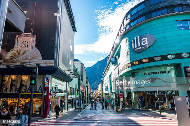 shops in escaldes engordany andorra la vella day - andorra stock pictures, royalty-free photos & images