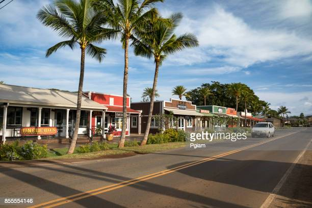 shops in haleiwa hawaii usa - haleiwa stock photos and pictures