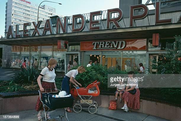 Shops in the Alexanderplatz in East Berlin Germany 1983