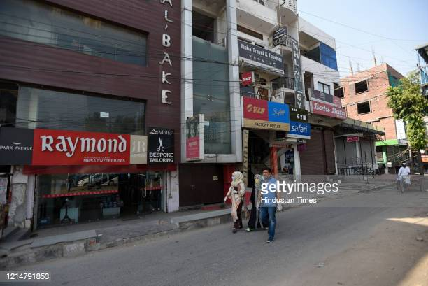 Shops in the Shaheen Bagh market partially open after a gap of five months due to the anti CAA and NRC protests and later the lockdown against...