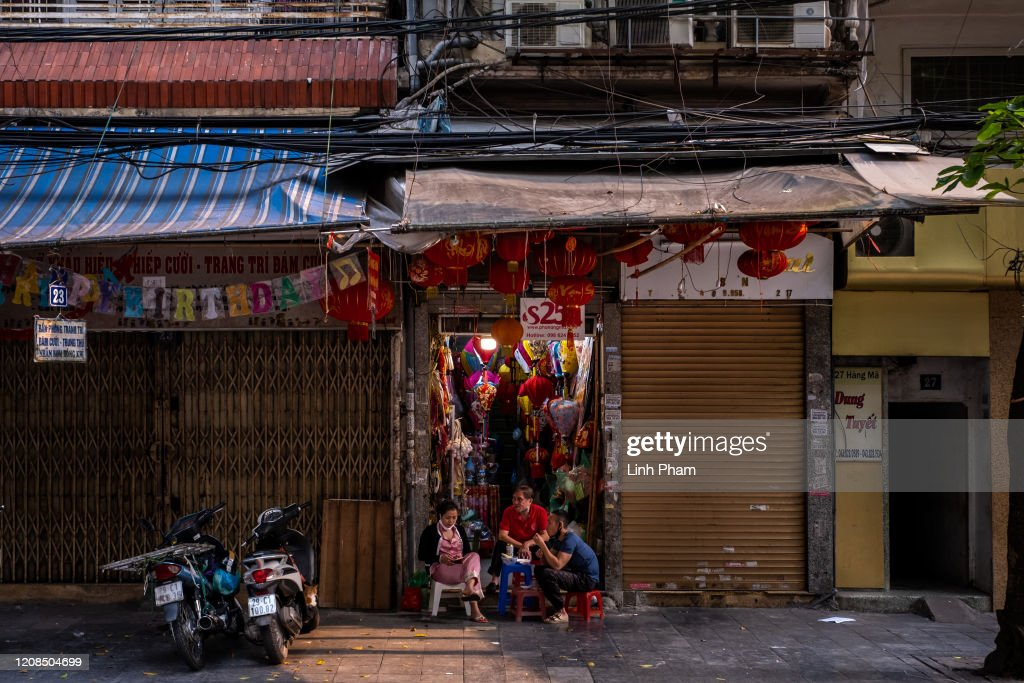 Shops On Hang Ma Street In Hanoi Old Quarter A Popular Area Normally News Photo Getty Images