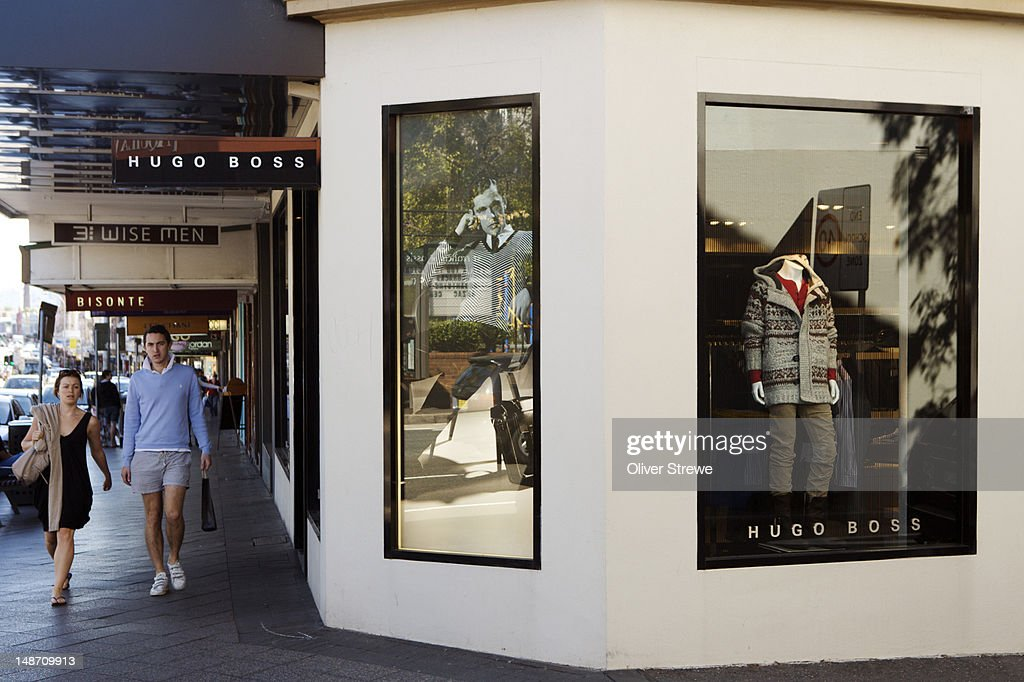 Shops on Oxford Street, Paddington. : Stock Photo