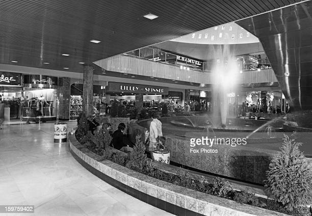 Shops such as Lilley Skinner H Samuel and Miss Selfridge at the new Brent Cross Shopping Centre in Barnet London May 1976