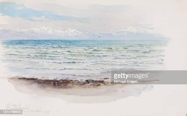 Shore at Pwllheli, N. Wales, 1899. Artist George Elbert Burr.
