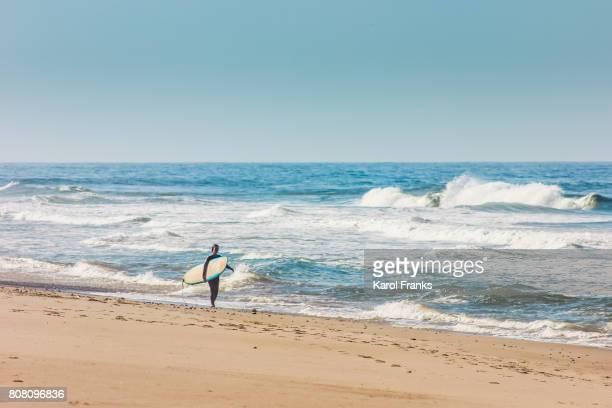 shore break - zuma beach stock photos and pictures