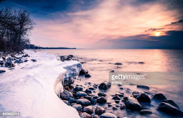 shore lake - ontario canada stock photos and pictures