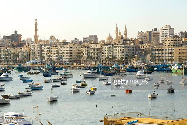 shore of alexandria. egypt - egypt stock pictures, royalty-free photos & images