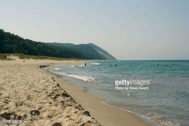 shore of lake michigan - lakeshore stock pictures, royalty-free photos & images