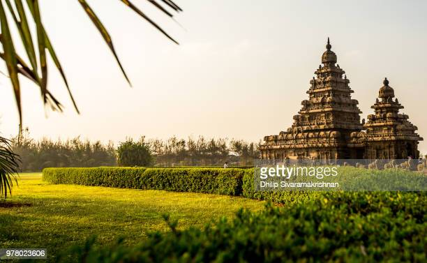 shore temple garden landscape, chennai, tamilnadu, india - chennai stock pictures, royalty-free photos & images