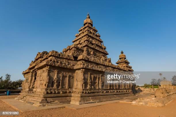 Shore Temple, Mahabalipuram (Mamallapuram), Tamil Nadu, India at sunrise.