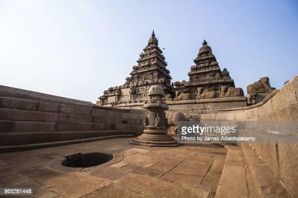 shore temple, mahabalipuram (mamallapuram), tamil nadu, india - tamil nadu stock pictures, royalty-free photos & images