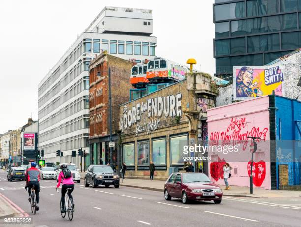 shoreditch city street - east london stock pictures, royalty-free photos & images