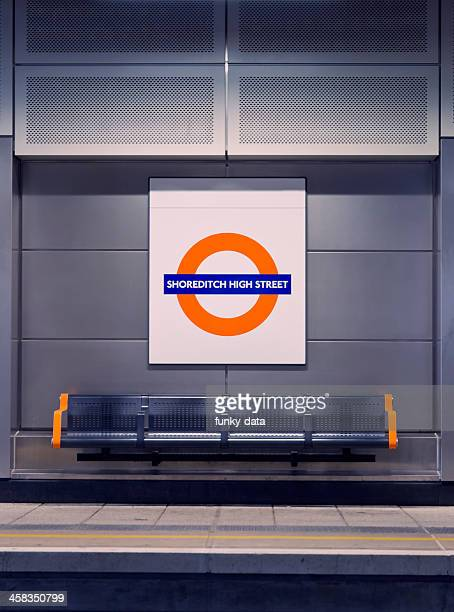 shoreditch high street station - shoreditch stock photos and pictures