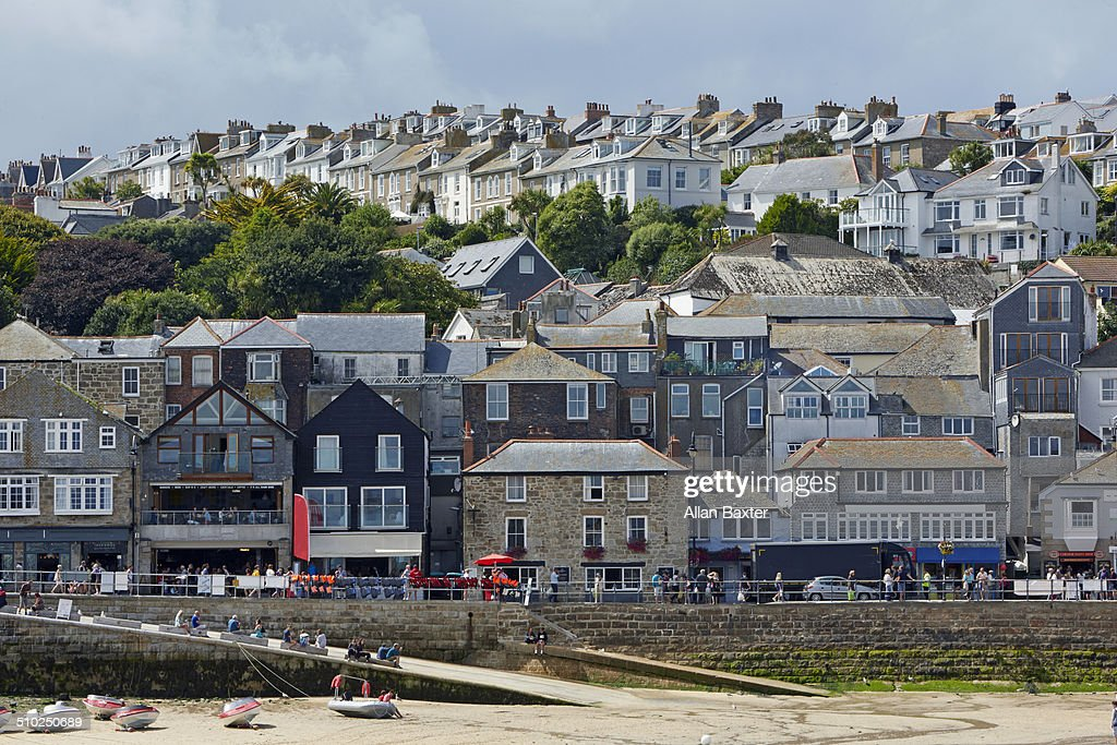 Shorefront of St Ives in Cornwall : Stock Photo
