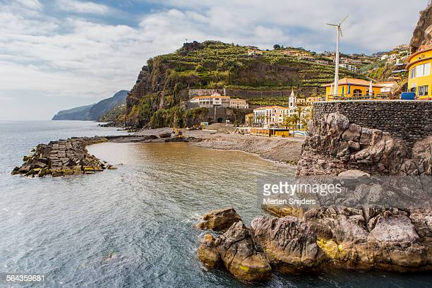 shoreline of ponta do sol - merten snijders stock pictures, royalty-free photos & images