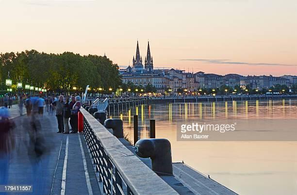 Shoreline of the Garonne River