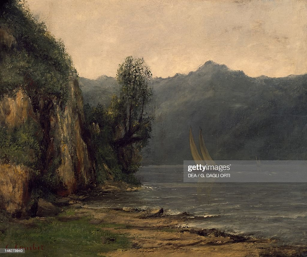 Shores of Lake Geneva near Vevey, by Gustave Courbet (1819-1877). (Photo by DeAgostini/Getty Images) : Nieuwsfoto's