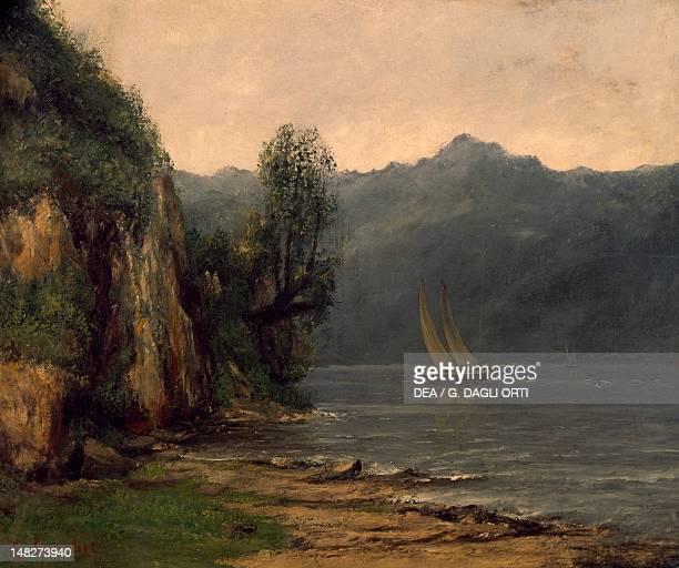Shores of Lake Geneva near Vevey, by Gustave Courbet . ; Besançon, Musée Des Beaux-Art Et D'Archéologie .