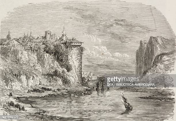 Shores of the Black Sea Turkey souvenirs of the East drawing by Gustave Dore from a sketch by Bordone illustration from Musee FrancaisAnglais n 21...