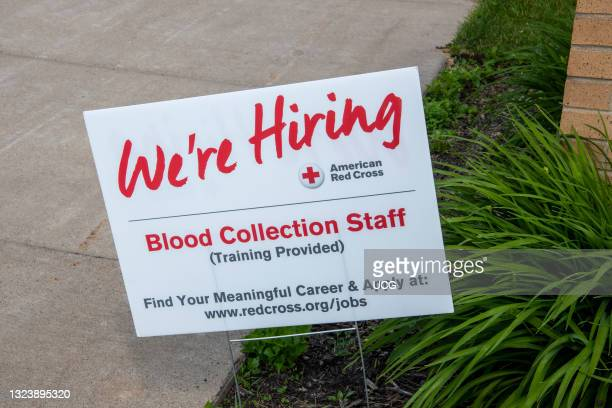 Shoreview, Minnesota. American Red Cross hiring blood collection staff with training provided.