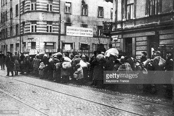 Short After October 12 The Jewish Population Was Removed Into The Ghetto Following German authorities' Orders.