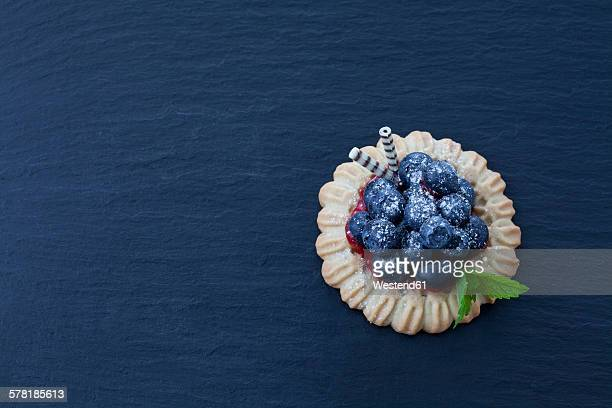 Short crust tartlet with blueberries