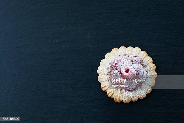 Short crust tartlet with raspberries