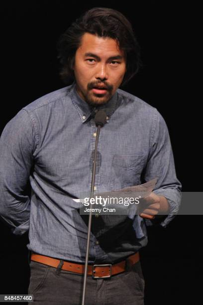 Short Cuts Jury member Johnny Ma speaks on stage the 2017 TIFF Awards Ceremony at TIFF Bell Lightbox on September 17 2017 in Toronto Canada